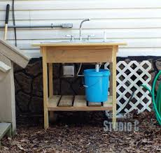 Outdoor Camping Sink Station by Sinks Make Outdoor Sink Station Build Your Own Garden Build