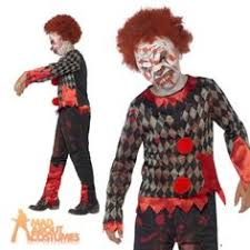 Scary Halloween Clown Costumes Kid Jumped Straight Nightmare