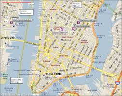 map of new york and manhattan manhattan ny map of city travel maps and major tourist