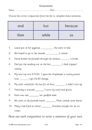 conjunctions and connectives teachit primary