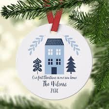 new home blue ornament