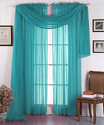 Turquoise Sheer Curtains Luxurydiscounts Beautiful Solid Turquoise