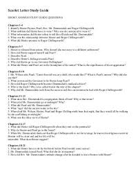 study guide scarlet letter answer key