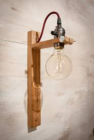 Edison Wall Sconce Recycled Wall Sconce G80 Edison Lamp Wood Lamp By Eunadesigns