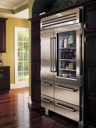 stylish glass door fridge to see what is inside amaza design