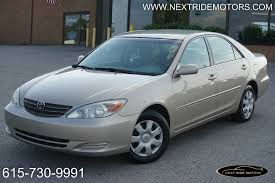 used toyota camry 2003 2003 used toyota camry clean title clean carfax trade in at