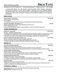 Machine Learning Resume Resume Jikai Victor Tang