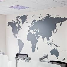 World Map Wall Poster by World Map Paper Posters In Wall Stickers Office Decoraction Art