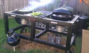 how to build a weber grill table anyone know of a weber kettle table mod page 2 the bbq brethren