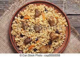 cuisine ouzbek épicé pilaf oignon ouzbek viande repas riz plat ail