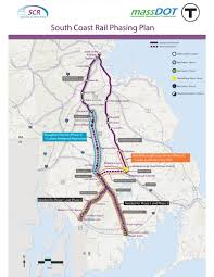 Map Of Massachusetts Coast by Phased Corridor Map South Coast Rail