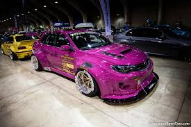 subaru purple subaru wrx sti with vollkommen design widebody kit photo s