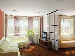 japanese style living room sliding door beside balcony vases