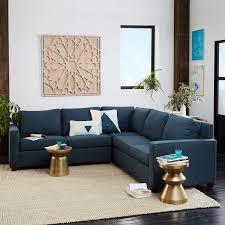 West Elm Henry Leather Sofa Impressive Henry 3 L Shaped Sectional West Elm Regarding