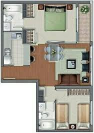 Two  Bedroom ApartmentHouse Plans Apartments D And - Apartment layout design