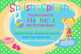 pool party invitation template for powerpoint free
