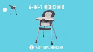 How To Fold A Graco High Chair Graco Tabletotable High Chair Youtube