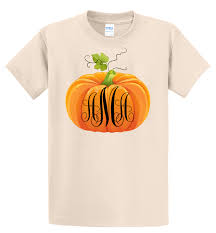fall pumpkin thanksgiving t shirt monogrammed sizes 6 months