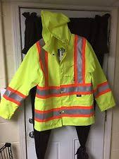 work king s37211 rain jacket with hood hi vis yllw grn l ebay