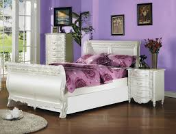 princess beds for girls grandiose purple wall painted with white wooden queen size