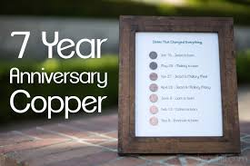 anniversary gifts for 7 year anniversary gift copper jerad hill