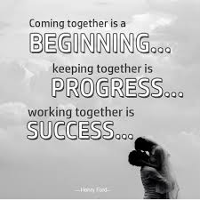 wedding quotes together coming together is a beginning marriage quotes