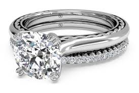 braided engagement ring cut solitaire braided engagement ring with matching