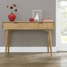 Glass Hallway Table Furniture Table With Drawers Oak Furniture Perth Console In