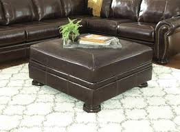Ottoman Leather Coffee Table Bollinger Tufted Leather Ottoman Pottery Barn Tufted Leather