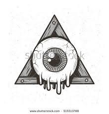 allseeing eye stock vector 515513788