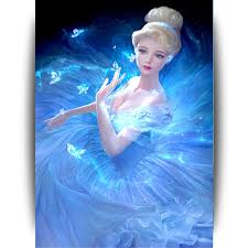 super beautiful princess diy 5d diamond painting diamond