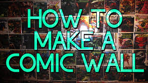 How To Hang Art On Wall by How To Make A Comicbook Wall Easy U0026 Cheap Youtube