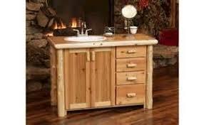 Log Vanity Custom Cedar Log 54