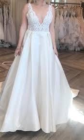 custom wedding dress lazaro custom 4 000 size 12 new altered wedding dresses