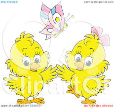 clipart of a cartoon butterfly over two spring royalty