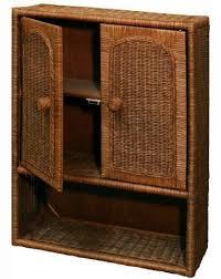 Wicker Bathroom Cabinet Amazon Com Wicker Bathroom Wall Medicine Cabinet In Antique Brown