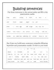 9 best images of building sentences worksheets esl sentence