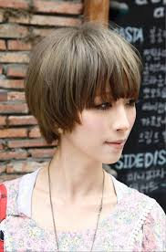 pictures of short japanese sleek hairstyle with blunt bangs
