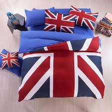 Bed Linen Sizes Uk - twin full queen size union jack uk flag duvet cover sheet pillow