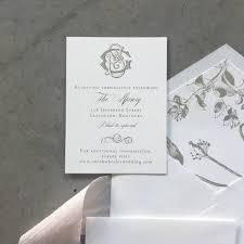 monogram wedding invitations sle monogram wedding invitation cardinal and straw