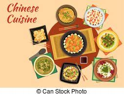 cuisine dinner cuisine dinner with comfort food flat icon vector