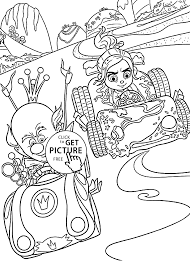 sweet race coloring pages for kids printable free wreck it