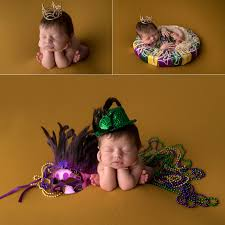 mardi gras baby shreveport baby photographer mardi gras baby louisiana tech