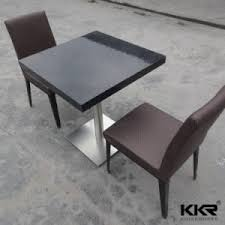 2 Seater Dining Tables China 2 Seater White Top Restaurant Dining Table With Chair For