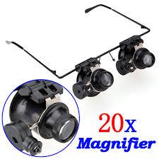 20x magnifier eye loop jeweller u0027s watch repair w led light g