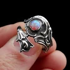ebay rings opal images Sterling silver ring with pink opal vintage opal ring floral jpg