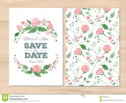 wedding invitations vector vector wedding invitation with watercolor flowers stock vector