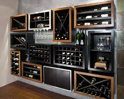modern wine rack home bar contemporary with display wall
