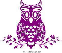 cute owl vector art cutting template freepatternsarea