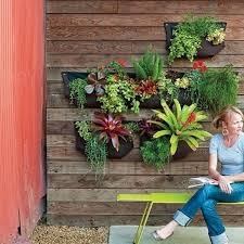 diy living wall planter ideas wall mounted pocket planters patio